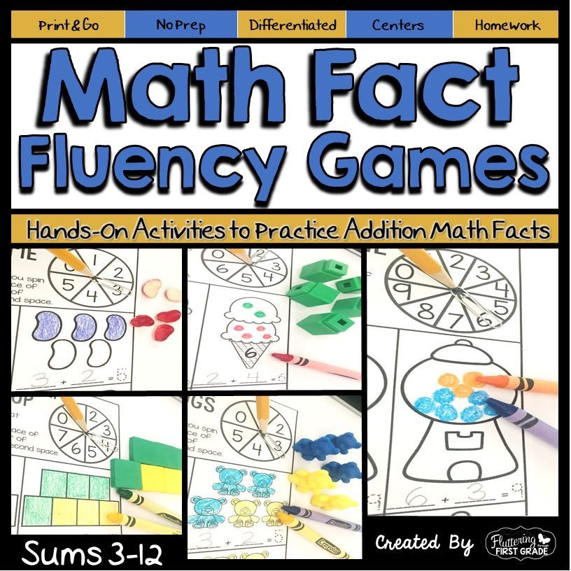 Addition Math Fact Fluency Games | Fluency games, Math facts and ...