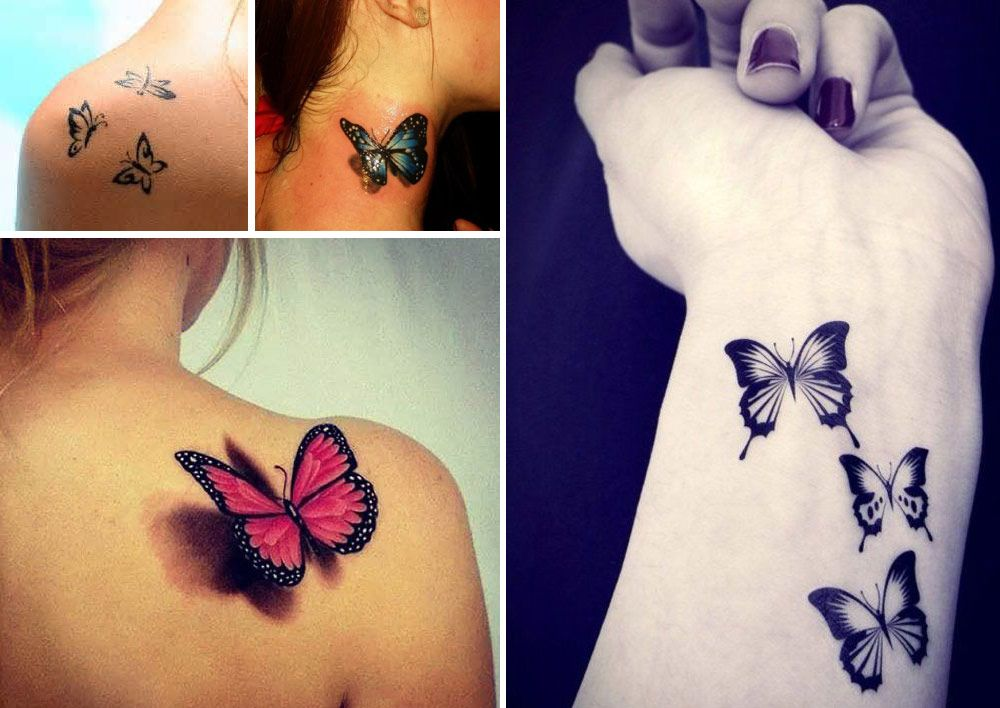 Tatouage femme papillon exemple idee tatouage - Tatouage de papillon ...