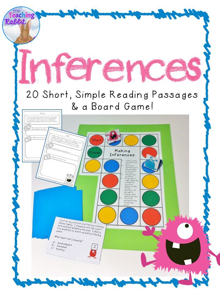 Teaching inferences to primary students? They might enjoy this fun board game! It also comes with 20 short reading passages!