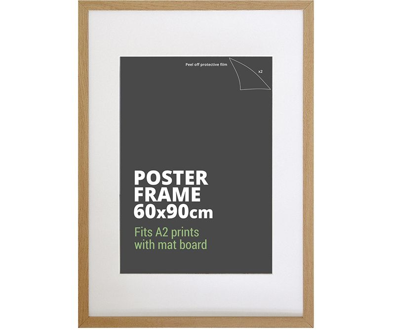 American Oak Poster Frame 90x60cm Picture Frame Oak Picture Frames Poster Frame Black Picture Frames