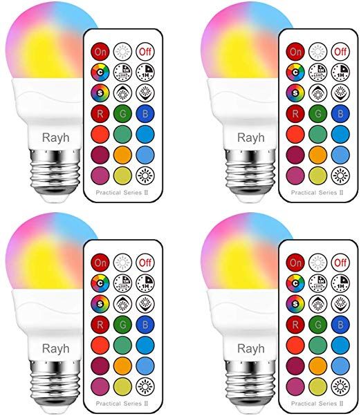 Color Changing Light Bulb Rgb Led Light Bulbs With Remote Control