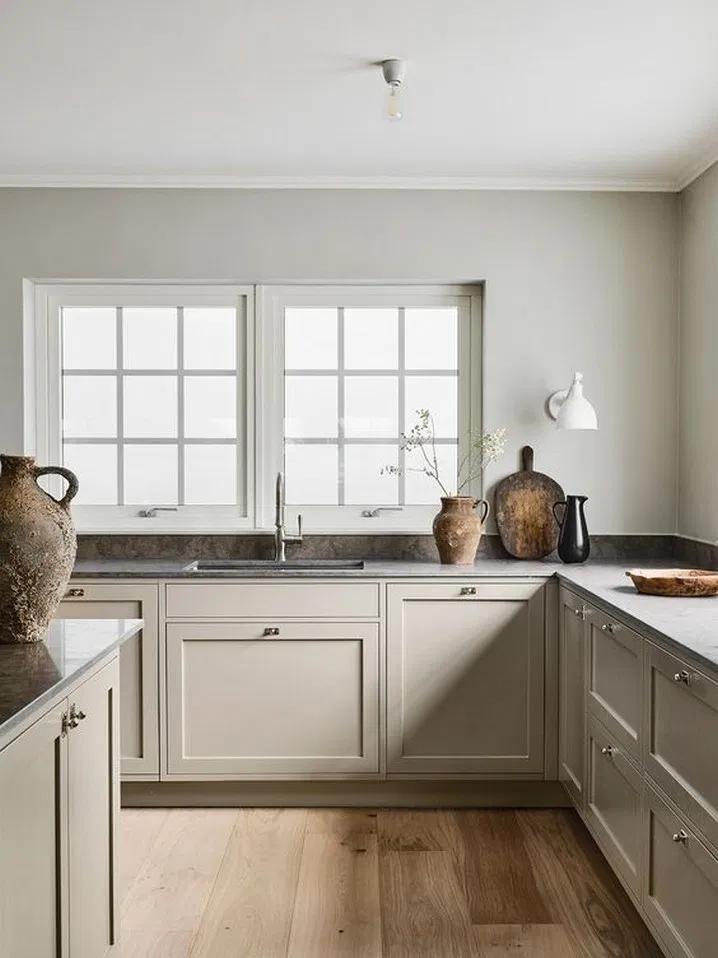 14 Best Modern Kitchen Interior Design Ideas 1 Tendollarbux Com Beige Kitchen Greige Kitchen Cabinets Rustic Kitchen