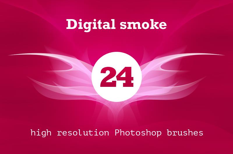 Digital smoke brush pack by outlinez on Creative Market
