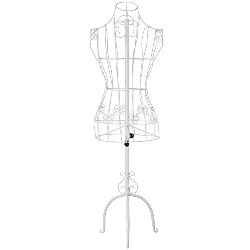Designers White Metal Adjustable Height Wire Frame Dress