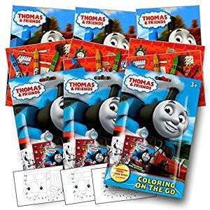 Amazon Com Thomas The Train Coloring Pack Party Favors With Stickers Crayons And Coloring Activity Book Train Party Favors Thomas The Train Party Party Packs