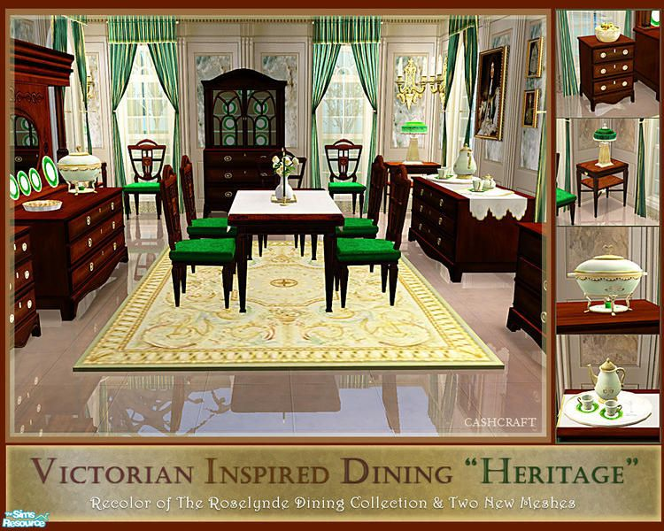 The Heritage Dining Room Is A Set Recolor Of The Roselynde Dining Mesmerizing Heritage Dining Room Furniture Inspiration