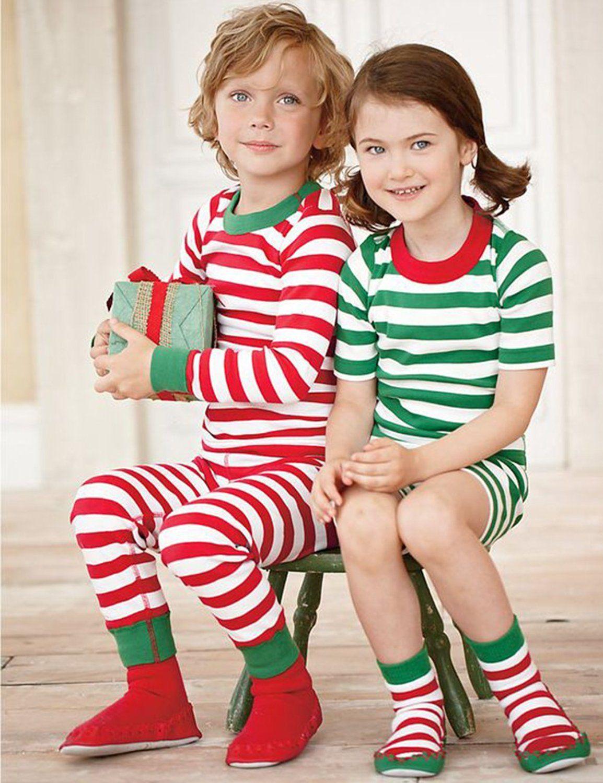 41f905e7d893 Amazon.com  Toddler Boys Girls Stripes Two Piece Sleepwear Nightwear ...