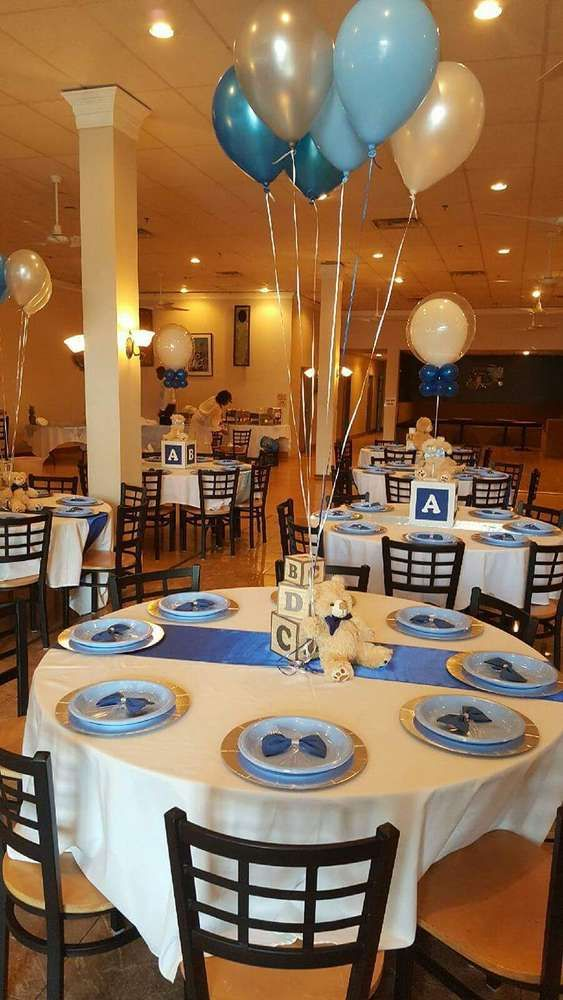 Awesome Baby Blocks, Bears And Bowties Baby Shower Party Ideas