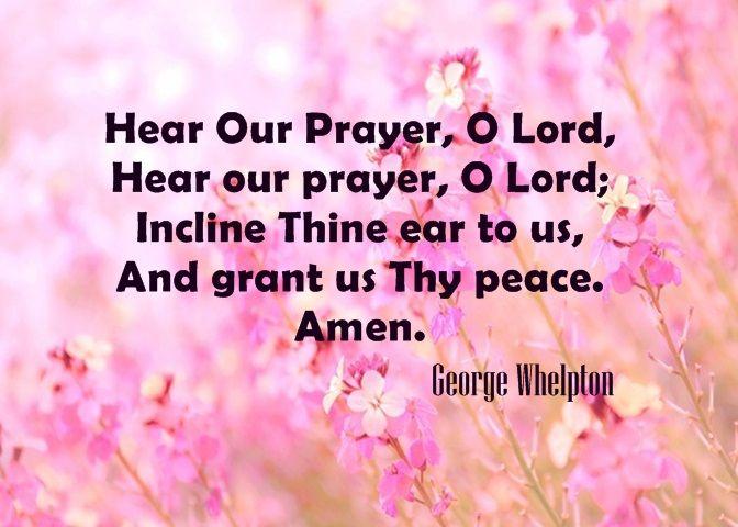 Hear Our Prayer O Lord Hymns And Choruses Prayers