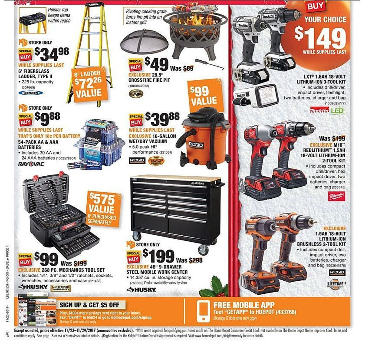Home Depot Black Friday 2017 Ads And Deals As Usual Home Depot Is One Of The Best Black Friday Sales For Huge Discounts On Major Appliances Home Improvement