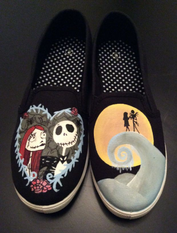Jack /& Sally Hand Pained Shoes