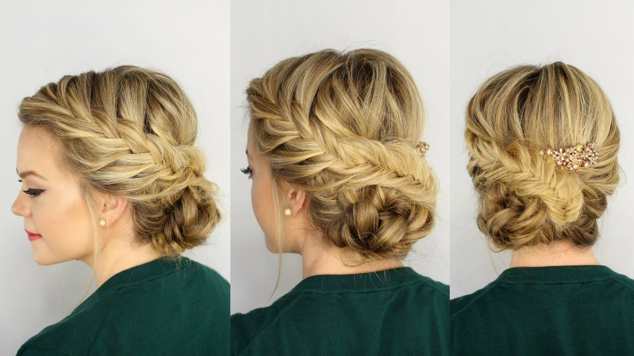 the most adorable, soft, and perfect fishtail bridal updo for my