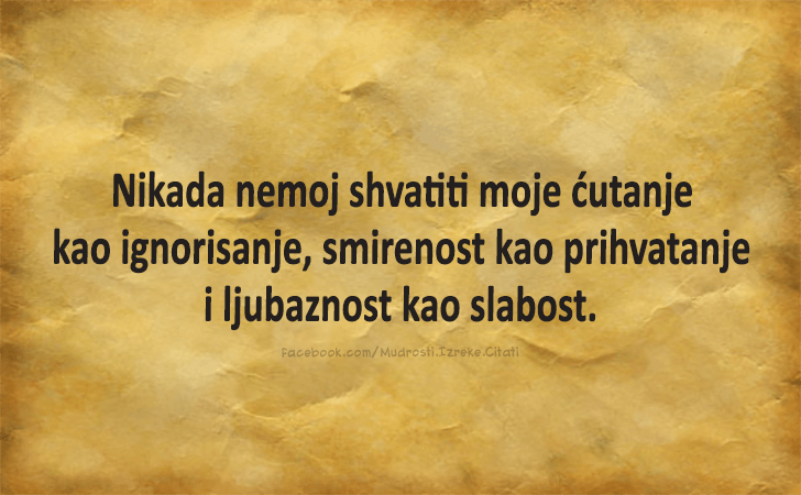 Ivo Andric Translated Never Mistake My Silence For Ignorance Stillness For Acceptance Nor Kindness For Weakness H Serbian Quotes Wise Quotes Mood Quotes