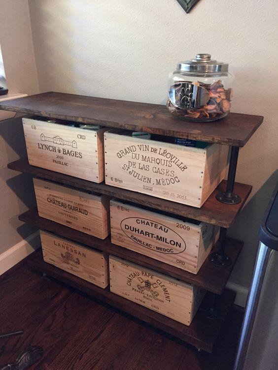 Créer avec les caisses à vin! Voici 20 idées déco déco maison - creer une entree dans une maison
