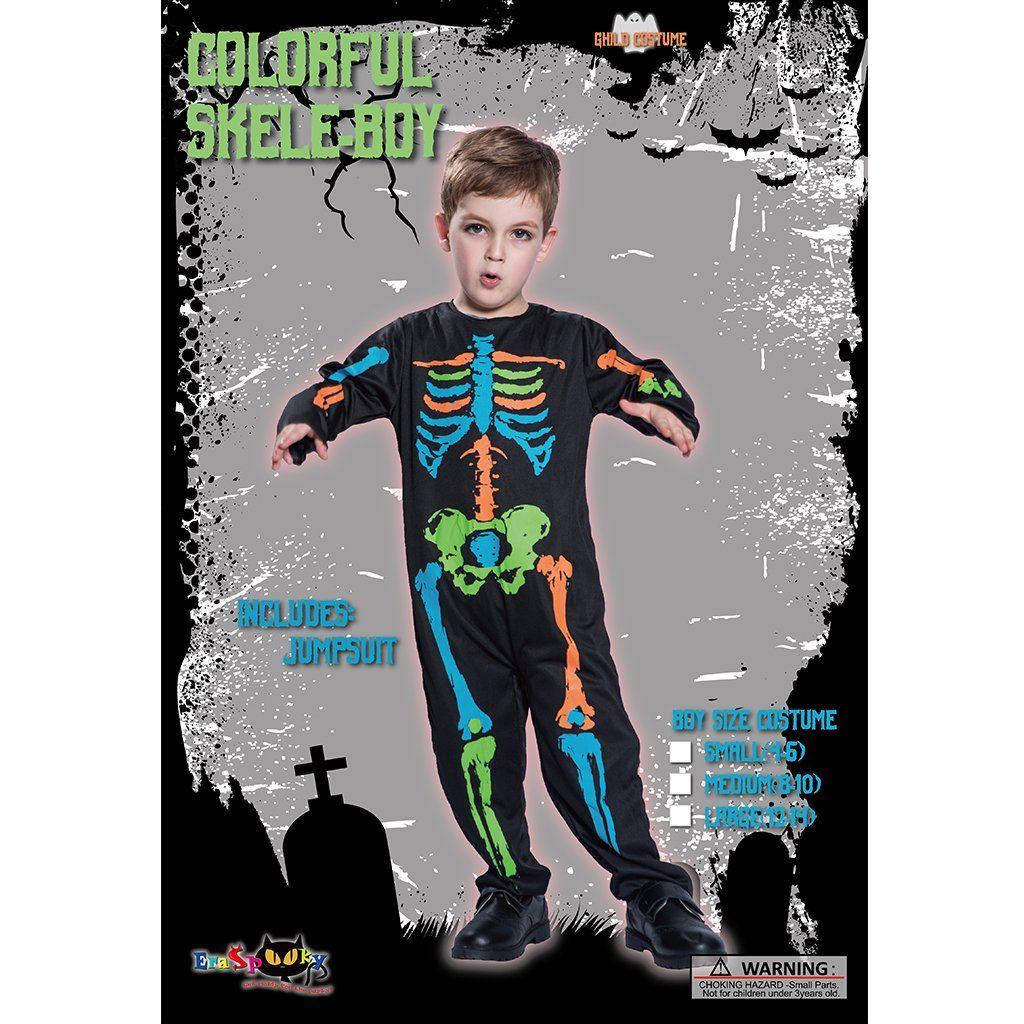 EraSpooky Boys Halloween Cute Skeleton Costume SuitAs