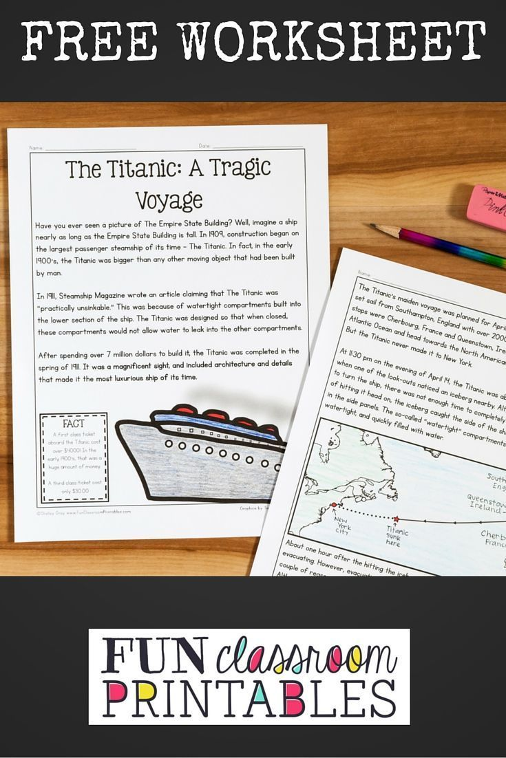 This FREE reading comprehension activity is ideal for Grades 3-5 ...