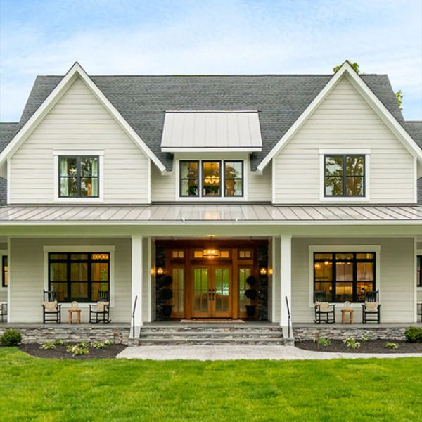 Take a look at this gorgeous #modernfarmhouseplan The Ruth Ann farmhouse checks off every item on your wish list! Need something a little smaller? Check out the Silverbell Ranch or Misty Falls house plans. #modernfarmhouse #farmhouseplans #countryhouesplans #homeplans #houseplans #houseplandesigner #dreamhome #architecture #farmhousestyle #farmhousedecor #customhomeplans