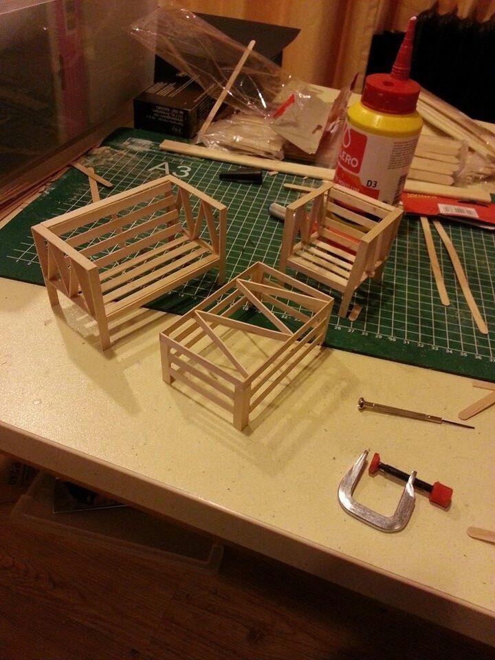 Dollhouse garden puppenm bel pinterest puppenstube puppen und barbie m bel - Barbie haus mobel selber bauen ...