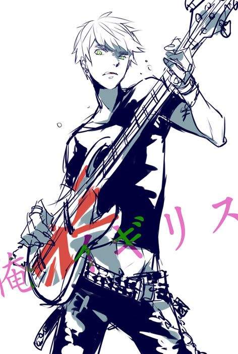 Day 25- Character who would be your band-mate if you were in a band. England did have the punk phase, right? And there are tons of headcannons that he can play the guitar, I think fm ith he and I would enjoy this.