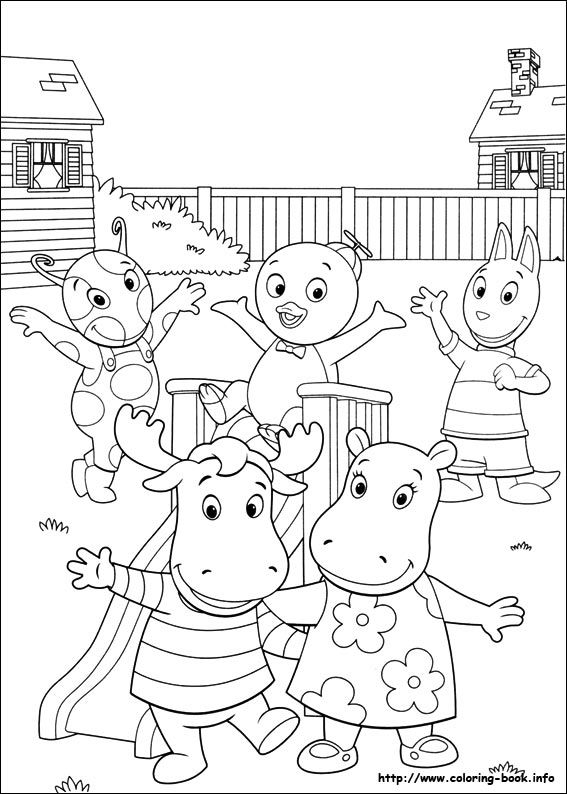Backyardigans coloring picture | children | Pinterest | Fiesta niños ...
