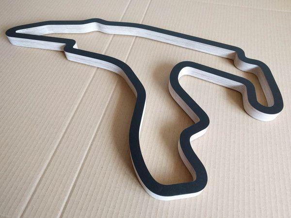 Race Track Wall Art >> Circuit Spa Francorchamps Racing Track Wall Art Replica Wood