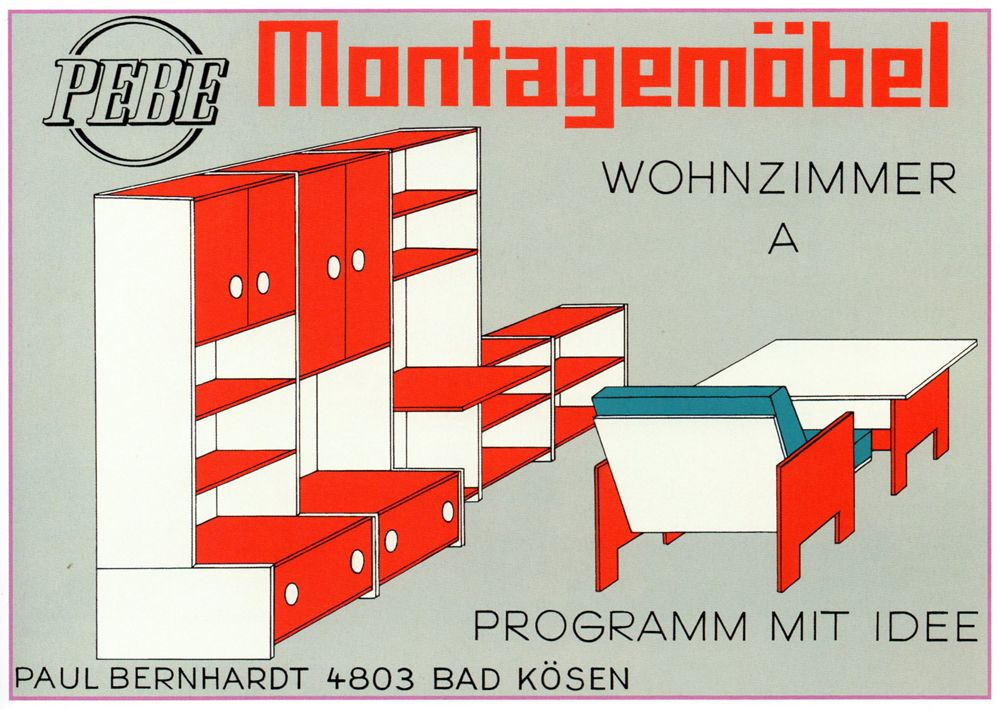 Toy furniture catalogue cover Germany, 1979 Graphic Design