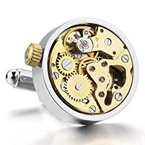 Justeel Men Vintage Steampunk Cufflinks Wind-up Watch Movements in Working Condition , with Gift Box, (Width x Length: 0.79 x 0.79 inches)  http://electmejewellery.com/jewelry/justeel-men-vintage-steampunk-cufflinks-windup-watch-movements-in-working-condition-with-gift-box-width-x-length-079-x-079-inches-couk/