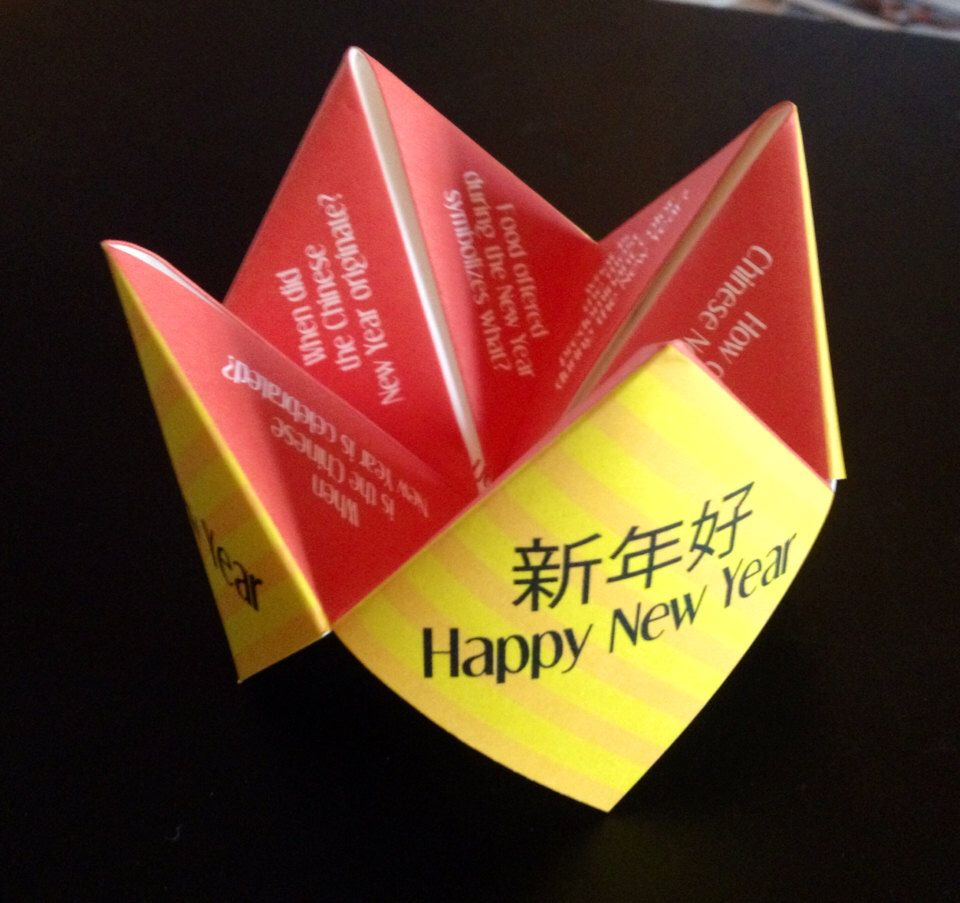 Chinese New Year Cootie Catcher, Year of the Rat, Origami ...