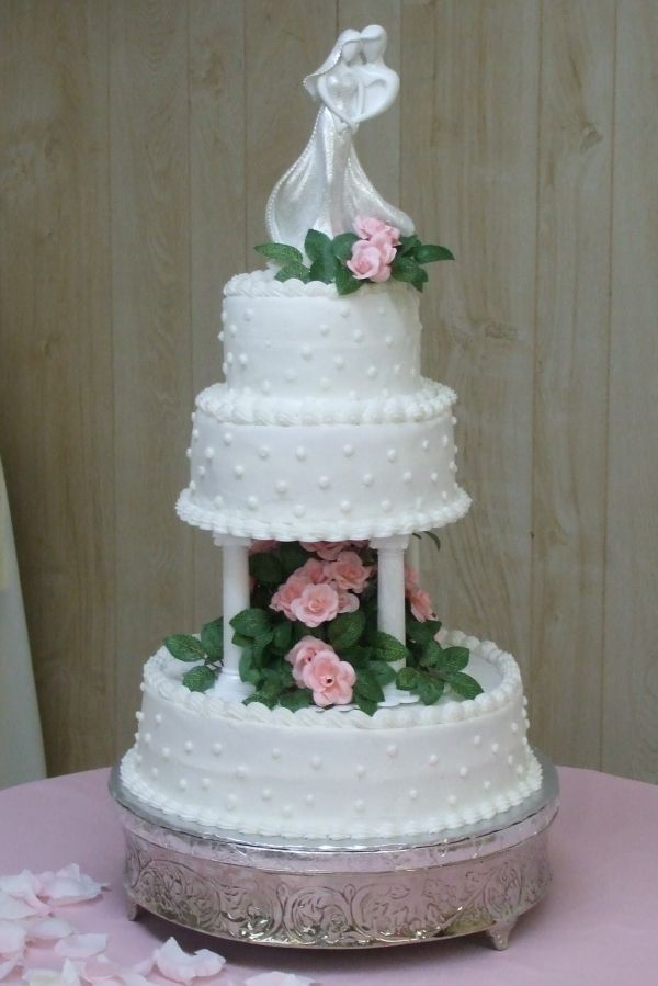wedding cake with columns 8 wedding cake 3 tiers one set of columns cake topper 26852