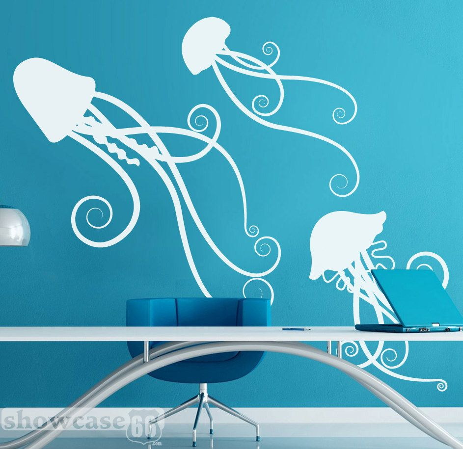 Sea Jellies   Vinyl Wall Art   FREE Shipping   Fun Under Sea Wall Decal