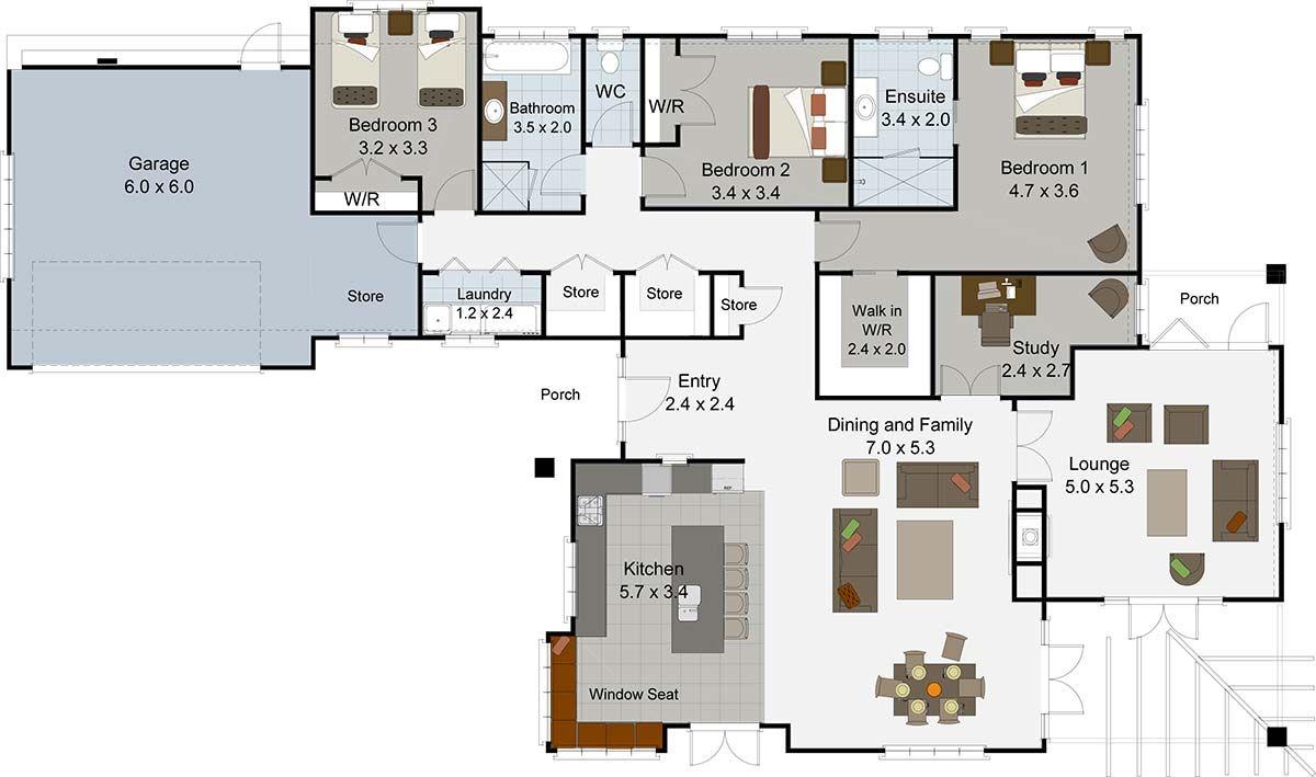brookside 3 bedroom house plan landmark homes builders nz - House Plans Landmark Homes New Zealand