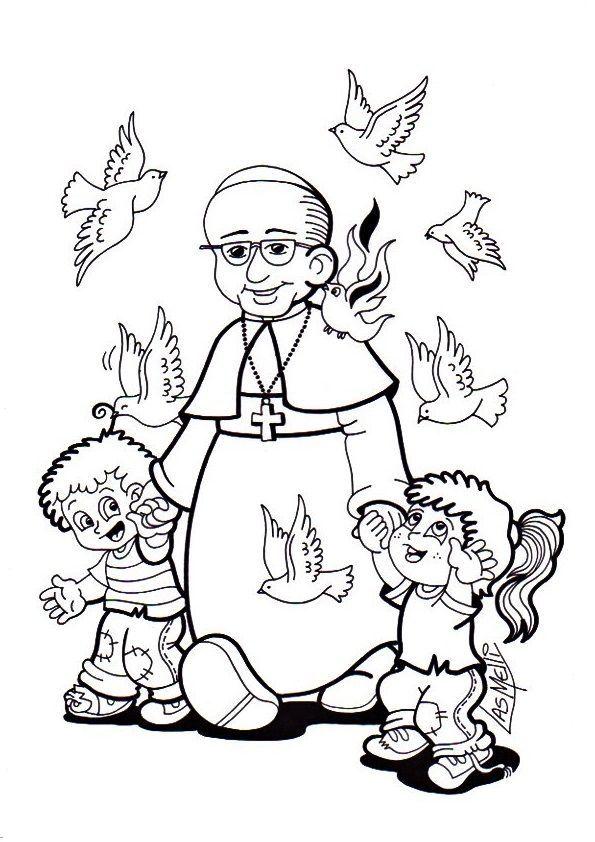 Resultado de imagen para dia del papa francisco para colorear ...