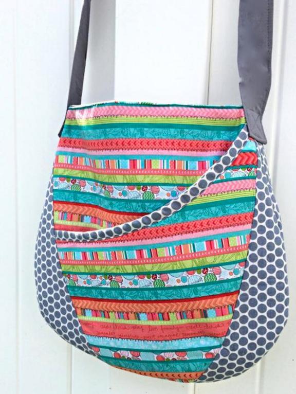 Free Sewing Pattern: Oval Messenger Bag | Handmade Handbags ...