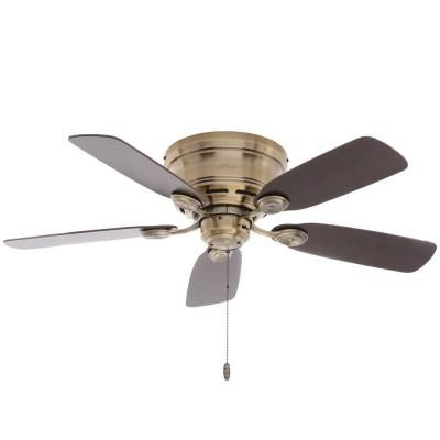 Hunter low profile 42 in indoor antique brass ceiling fan aloadofball Image collections