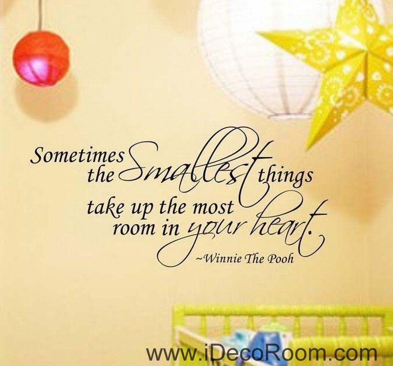 Smallest Things Kids Wall Art Quote Vinyl Stickers Removable Decal ...