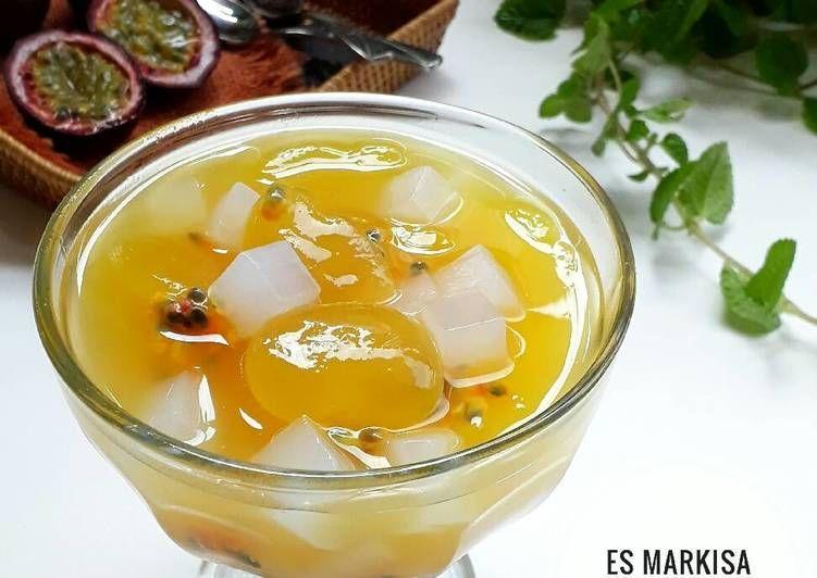 Resep Es Markisa Kolang Kaling Oleh Sukmawati Rs Resep Resep Buah Markisa Makanan Dan Minuman