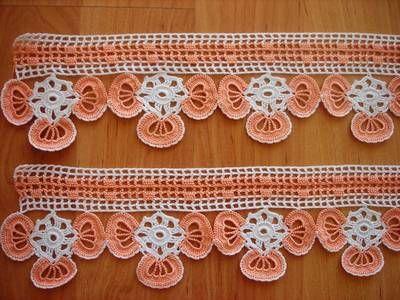 Havlu dantel modelleri örnekleri 7 İki renkli havlu kenarı