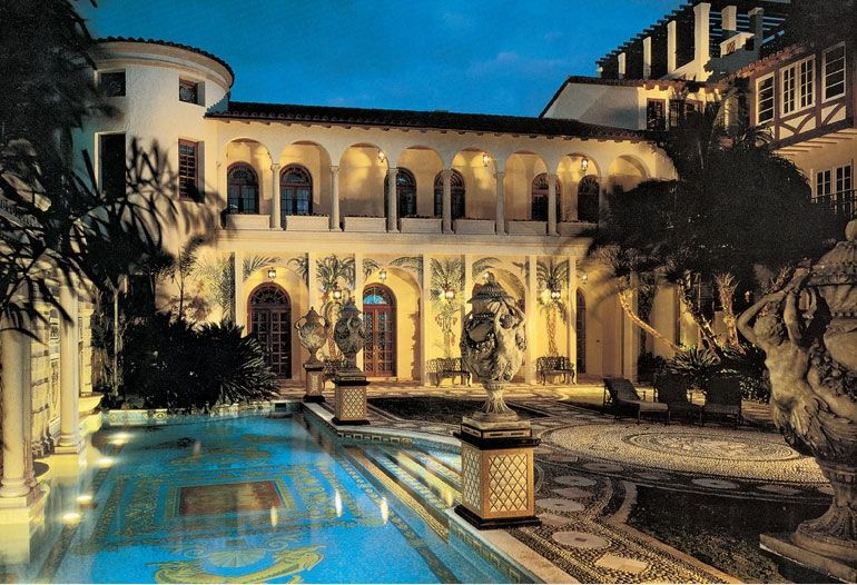Versace Mansion in Miami, FL The Delmar's house looks a lot like this beautiful place