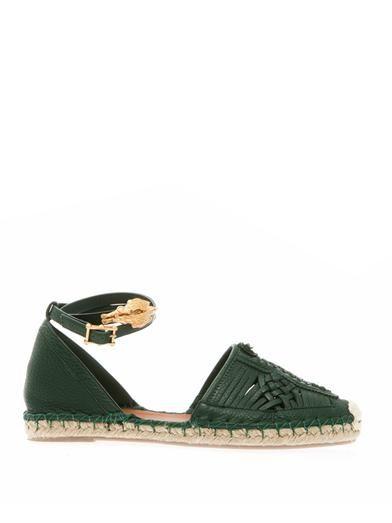 Valentino Woven leather espadrilles MATCHESFASHION.COM #MATCHESFASHION