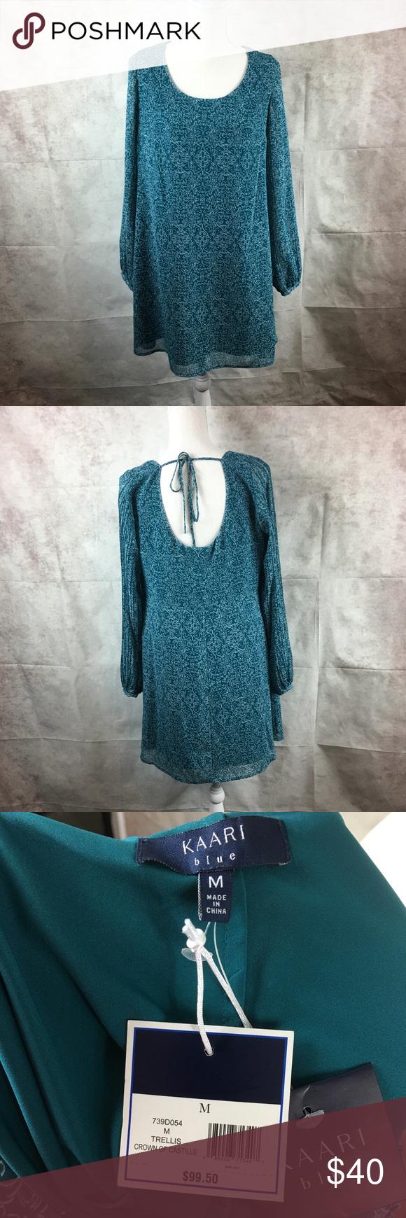 Nwt Kaari Blue Women S Dress Sz M Blue Green Blue Green Dress Clothes Design Green Dress [ 1740 x 580 Pixel ]