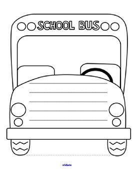 School Bus Drawing : school, drawing, Sample, Larger, Black, White, Templates, Creating, Drawing,, Writing, Storytelli…, School, Safety,, Magic