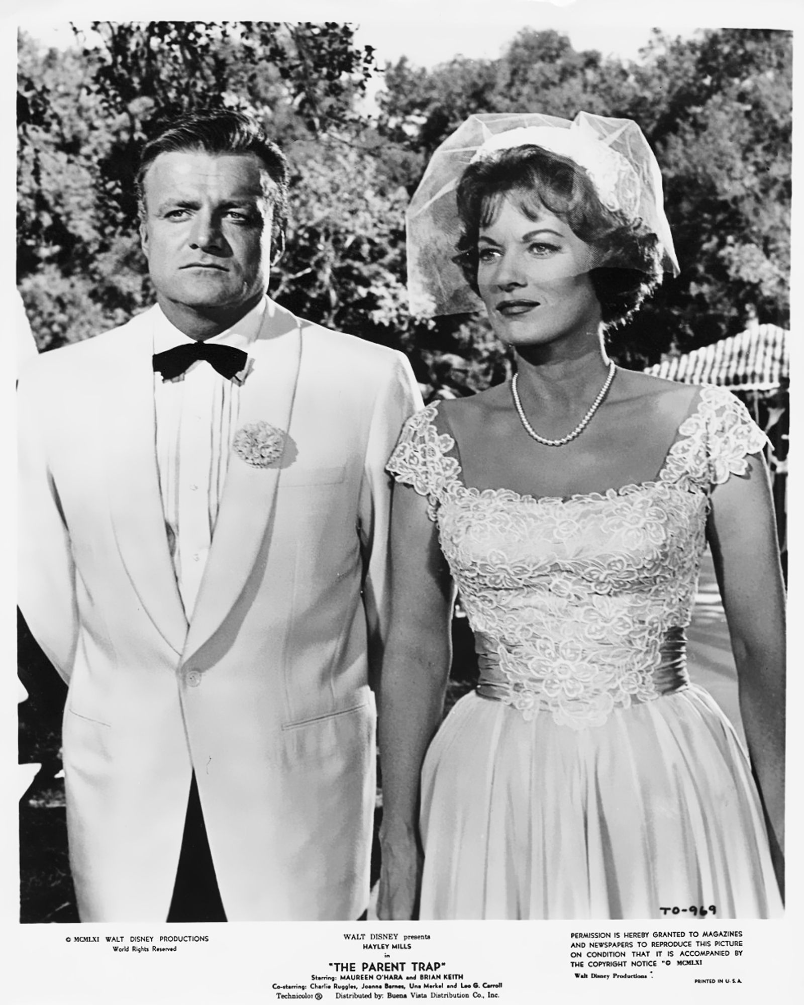 Maureen O'Hara and Brian Keith in The Parent Trap (1961