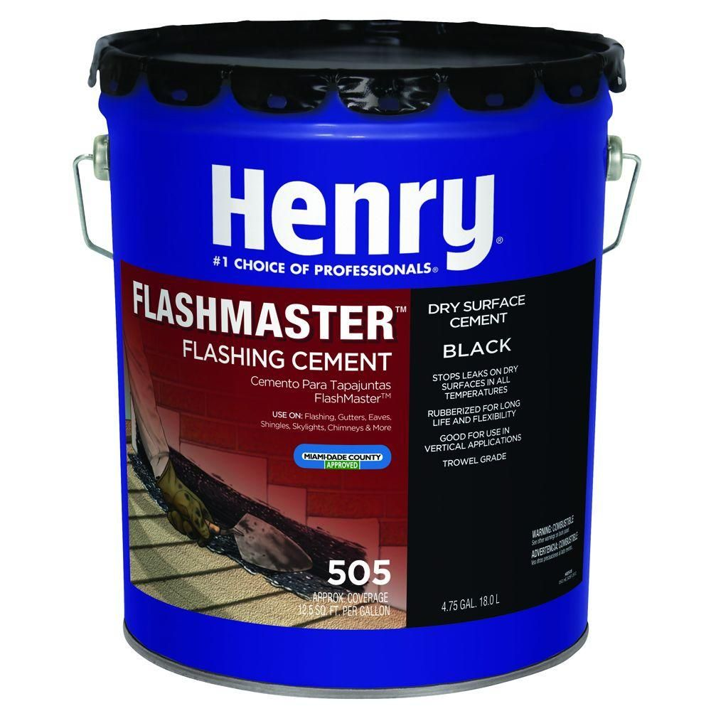 Henry 505 4 75 Gal Flash Master Roof Sealant He505571 The Home Depot In 2021 Roof Coating Roll Roofing Roof Sealer