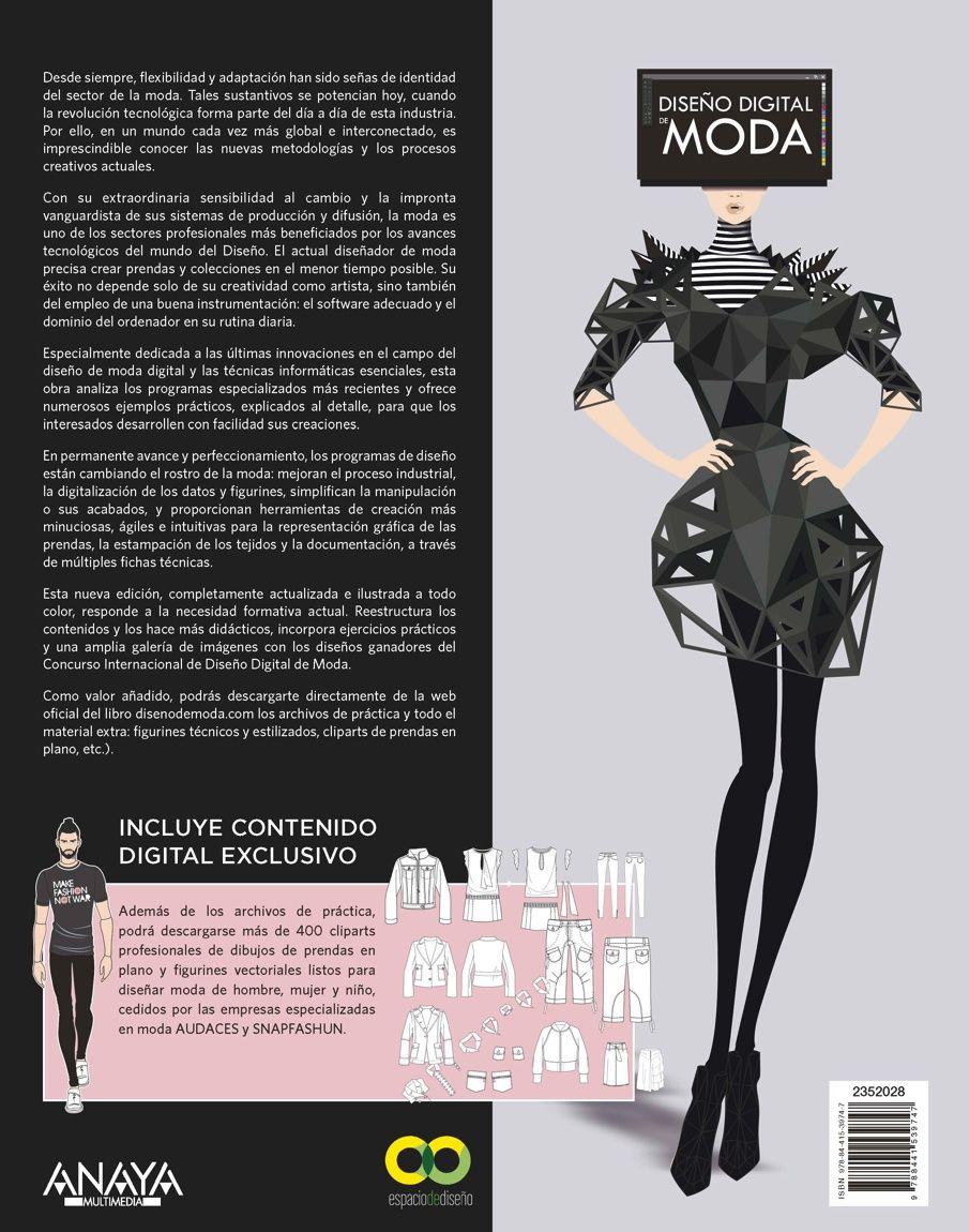 Contracubierta Libro Diseno Digital De Moda El Libro Para El