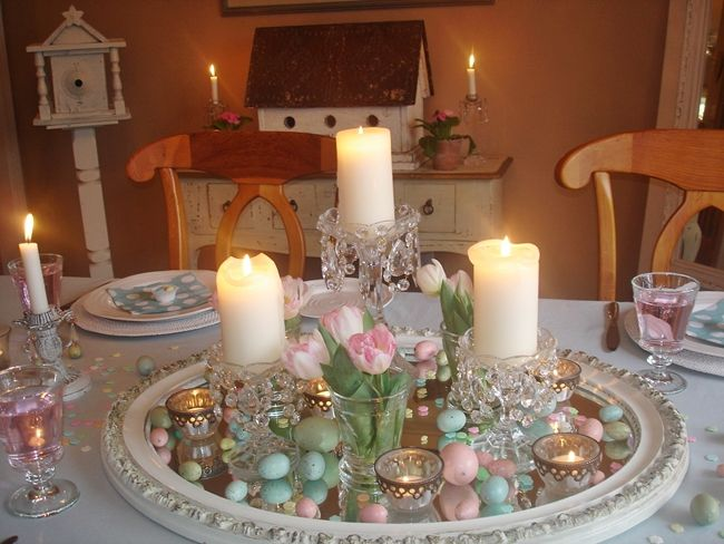 So Cute Easter Dining Table Easter Table Decorations Easter Centerpieces