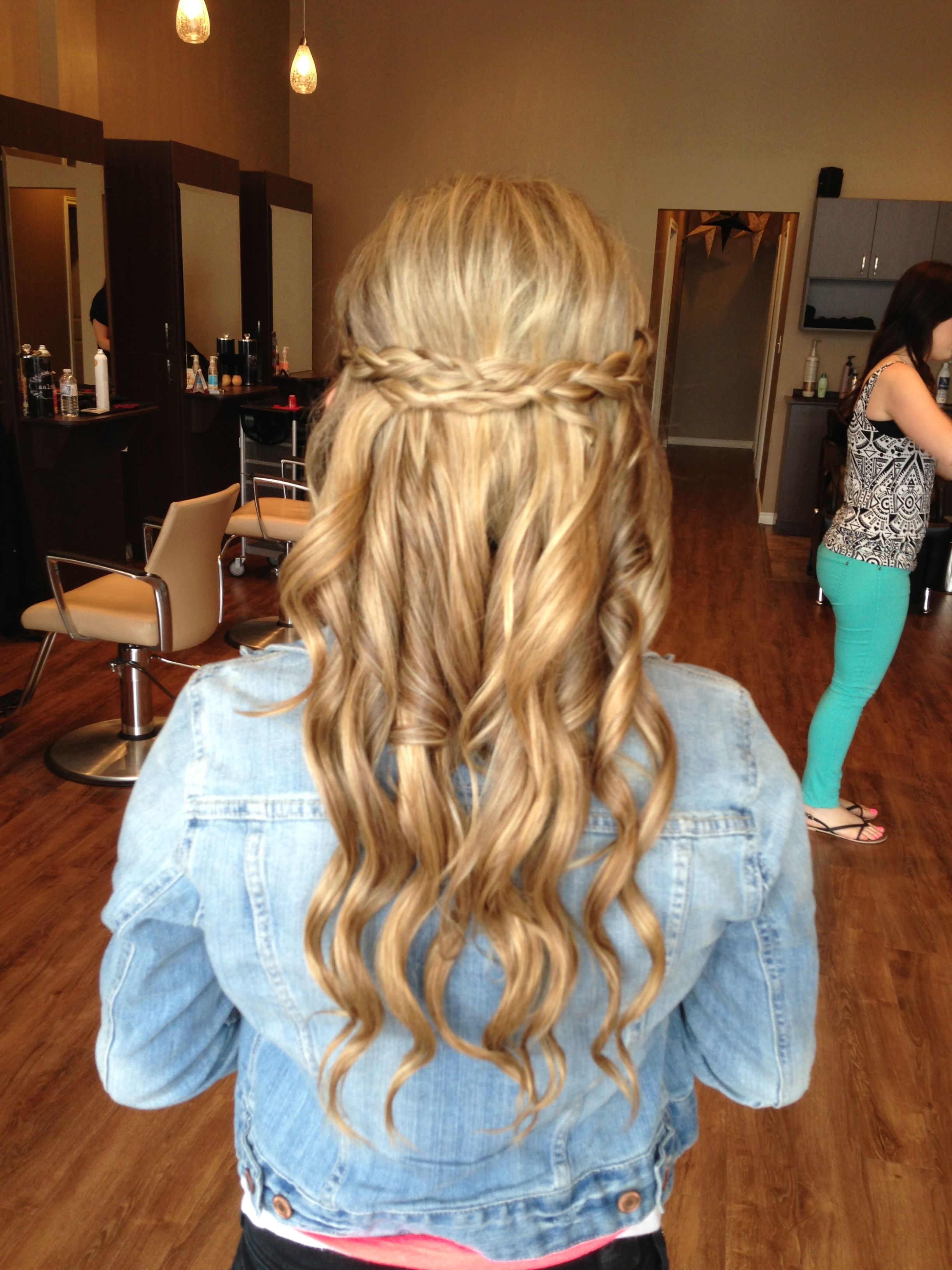 Half Up Curls Braids With Curls Hair Styles Curled Hairstyles