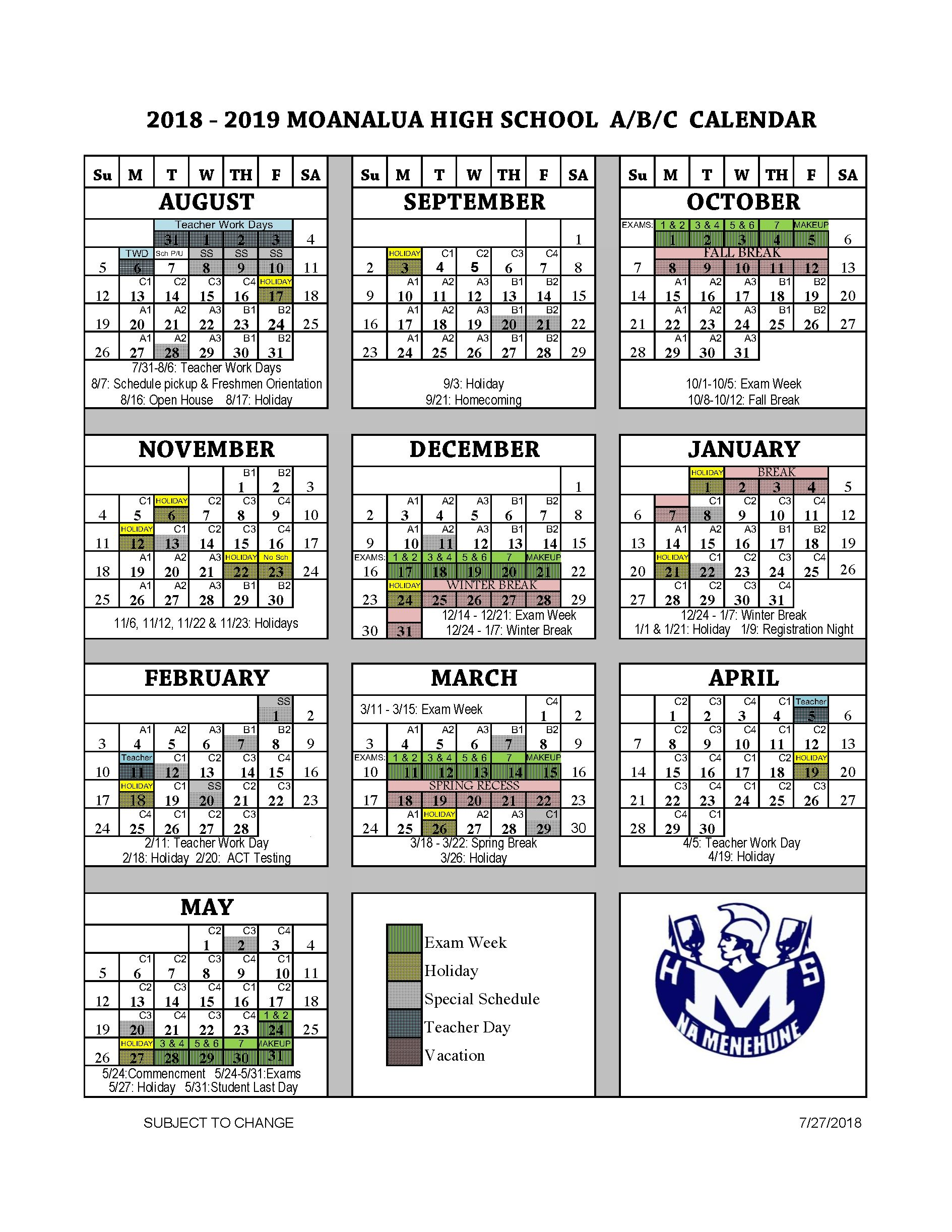 Collect Doe 2019 School Year Calendar School Year School