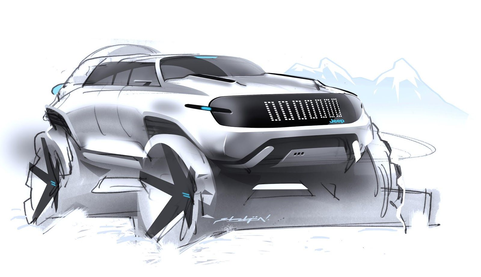 When i started this blog back in the days one of my first posts was about some random jeep sketches well i have to say that sketch