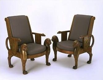 Modern Furniture Egypt in this chair there are strong ties to egyptian concepts from