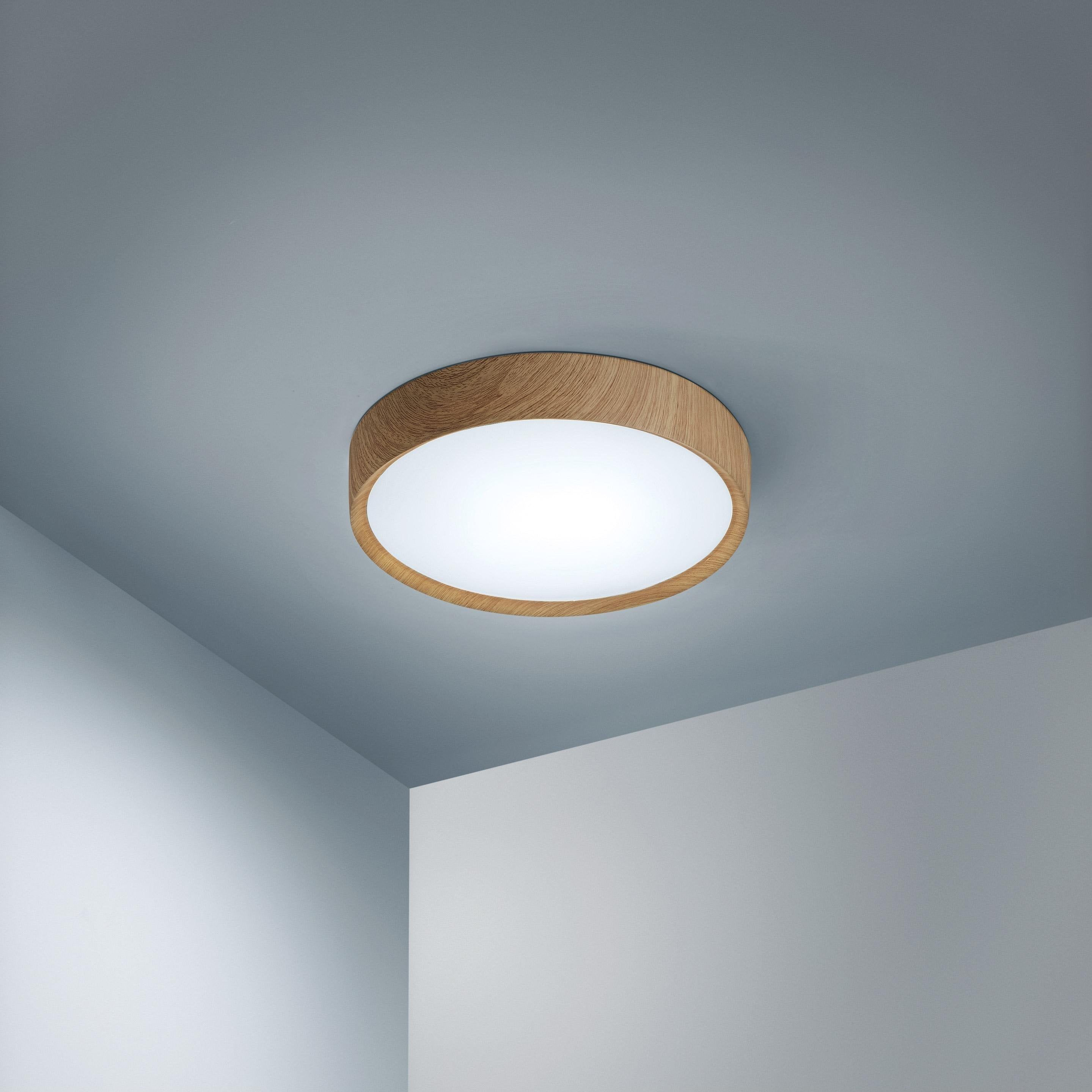 Plafonnier Scandinave Acrylique Bois Led Integree Lumiplus